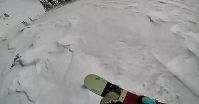 Сноубордист смог заснять момент, когда он попал в лавину. [Видео]