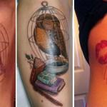 15 фотографий с гениальным сокрытием родимых пятен с помощью татуировок.