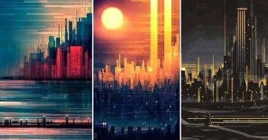 Геометрические пейзажи художника Скотта Уминга.
