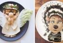 Мама создает креативно оформленные блюда, чтобы привить своему сыну любовь к здоровой еде.