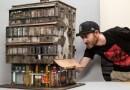 Австралийский художник создал уменьшенную копию здания, воссоздав огромное количество мелких деталей.