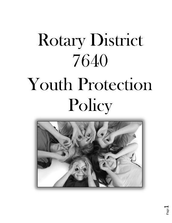 Vineland Rotary » Youth Protection Policy