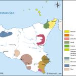 Sicily Map Of Vineyards Wine Regions