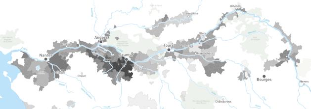 Carte viticole Val de Loire