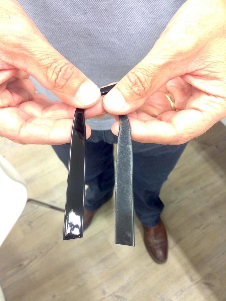 Polieren van montuur bij Vingerhoets-Optics voor en na