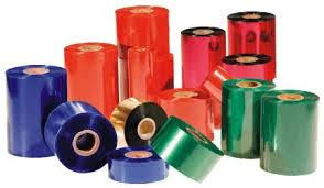 mực in nhiệt 60mmx300m wax premium ribbon in mã vạch - red blue green wax resin color ribbon