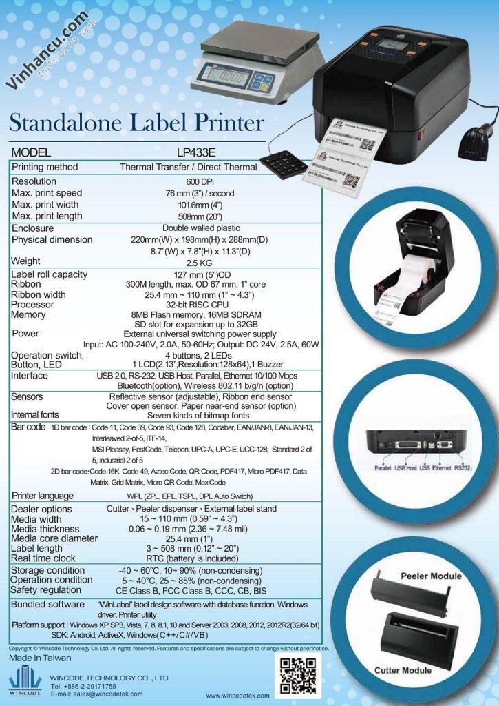 Máy LP433E 600 DPI giá tốt 23tr/ cái