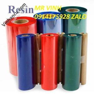 mực ribbon wax in tem nhãn mã vạch - resin color ribbon