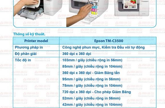 TM C3520 EPSON COLOR LABEL PRINTER IN ROLL 2019