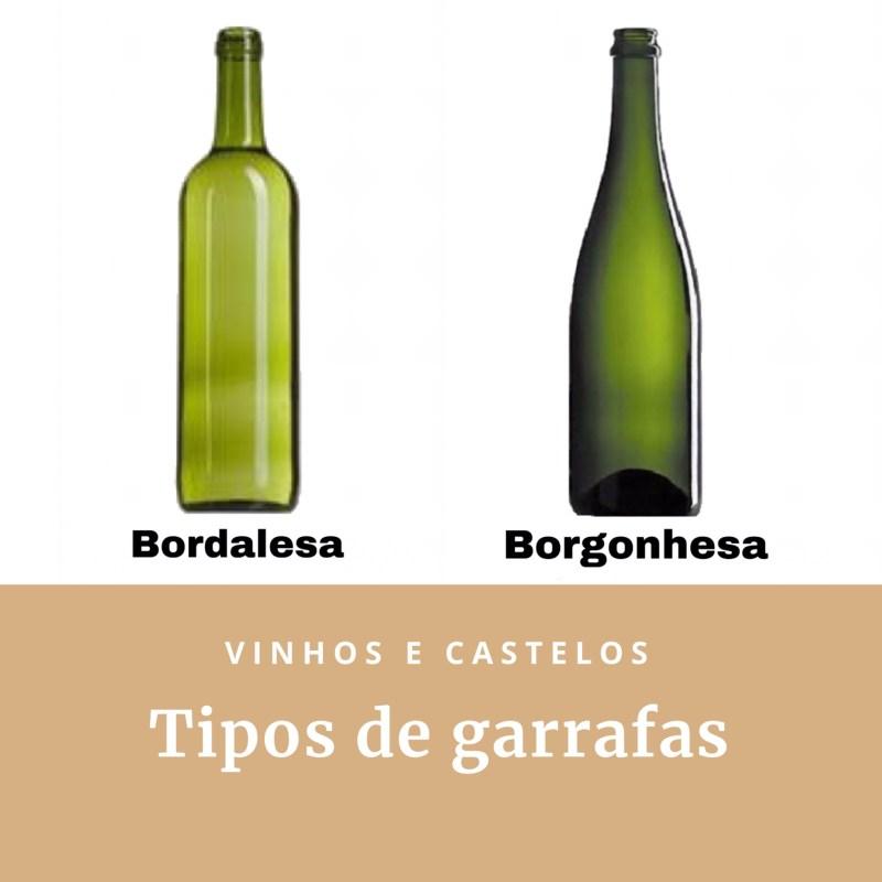 Qual a diferença entre as garrafas Bordalesa e Borgonhesa