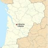 mapa Libourne Liborna