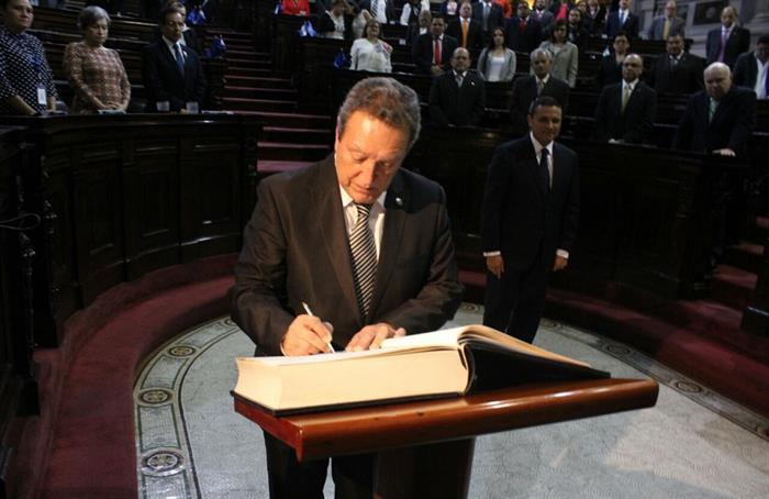 Juramentación de Vinicio Cerezo, Secretario General SICA