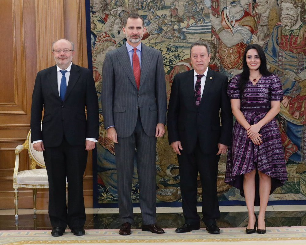 Rey y Vinicio Cerezo tratan perspectivas de cooperación España-Centroamérica