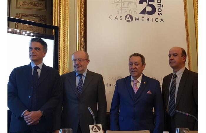 """Vinicio Cerezo en la Tribuna Americana EFE-Casa de América: """"Queremos convertir a Centroamérica en una Región Estratégica"""""""