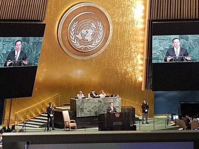 Vinicio Cerezo participa en la 72° Asamblea General de la ONU