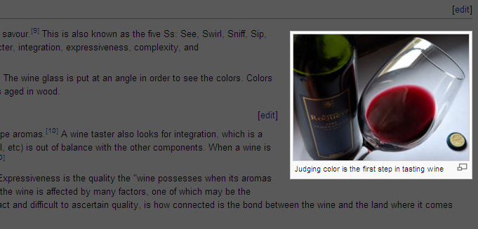 Wikipedia reveals the true colors of wine tasting!