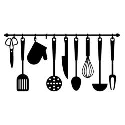 cocina utensilios frases stickers vinilo decorativo cozinha colgados vinilosbaratos decorativos vinilos menaje cuisine cosas cocinas kitchen quadros dibujo restaurant negras
