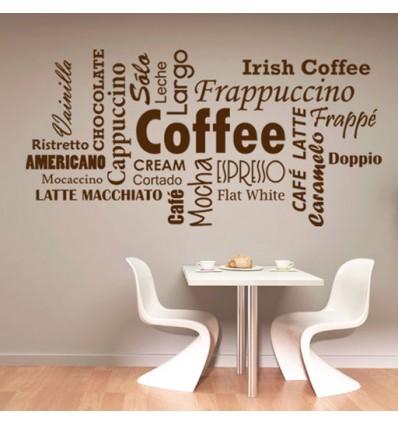 Vinilo decorativo tipos de caf