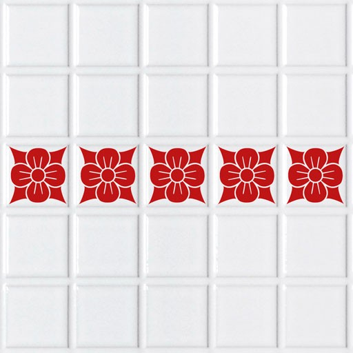 Vinilo decorativo para azulejos flor