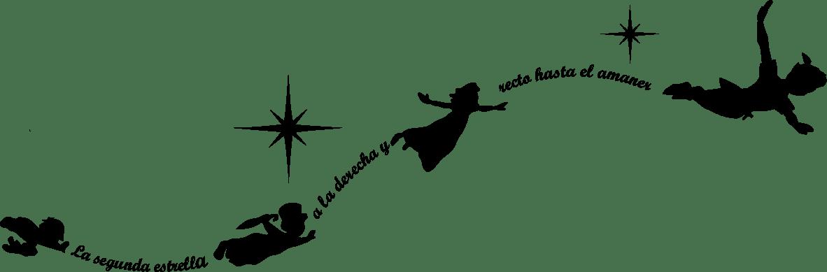 Vinilo infantil Peter Pan  VinilosLowCostes