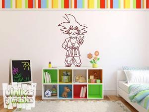 Vinilo decorativo de Goku, Dragon ball, comic, manga.