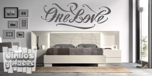 "Vinilo decorativo one love ""Un amoroÚnico amor"""