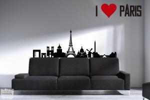 Vinilo decorativo silueta Paris