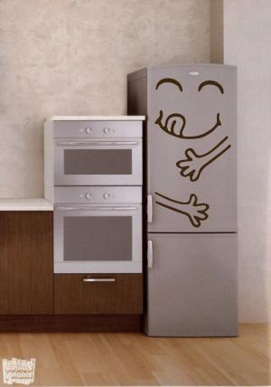 Vinilo decorativo glotón frigo