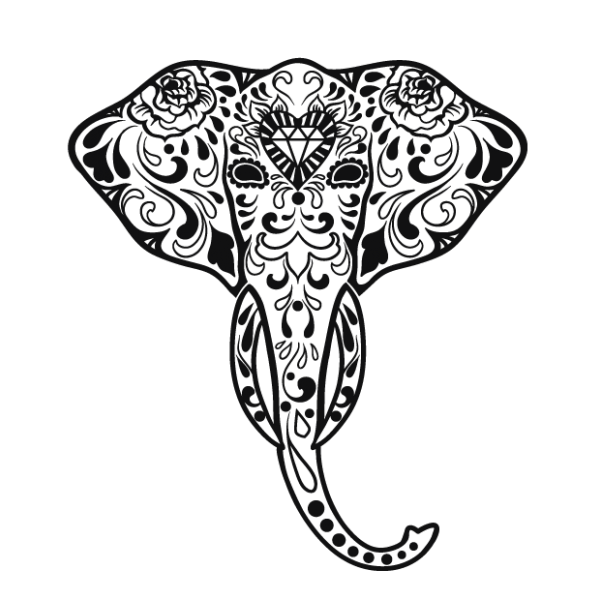 Ornamental animal decals and wall stickers