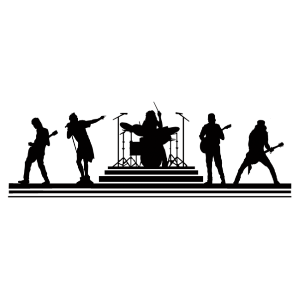 Rock music wall decals and stickers