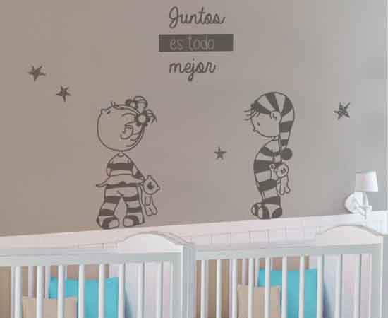 Los vinilos beb para gemelos y mellizos  Blog de Vinilvip