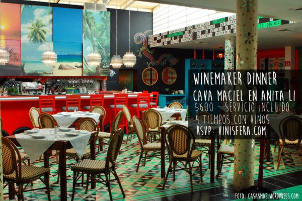 WineMaker Dinner: Cava Maciel en Anita Li.