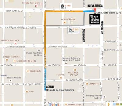 mapa nueva tienda de vino