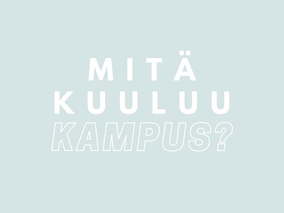 Mitä kuuluu kampus? -podcast. kuvitus: Iina Tauriainen.