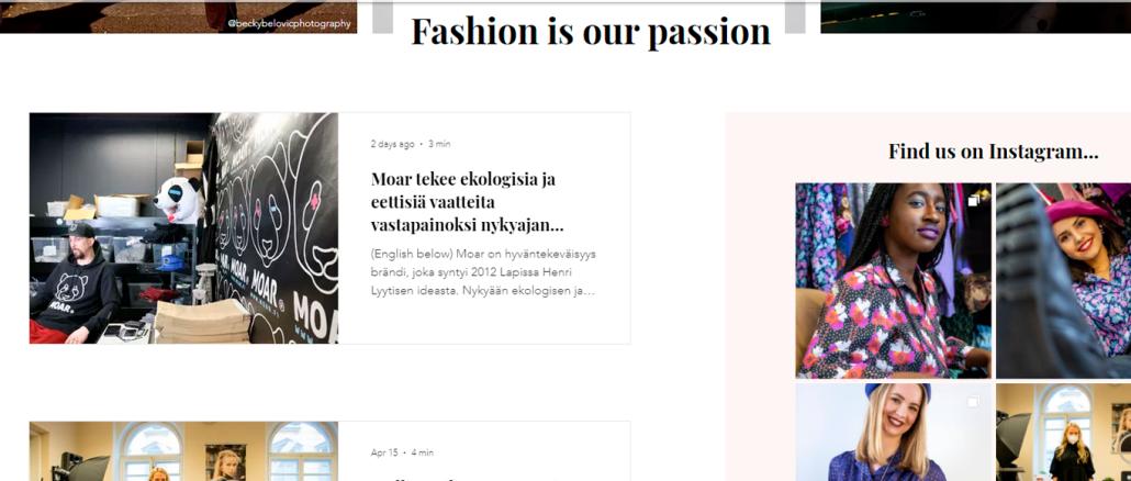 Faura fashion project.
