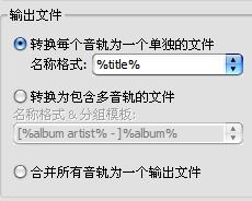 输出文件设置