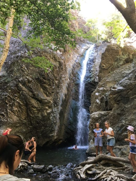 Millomeris Waterfalls in Platres Village