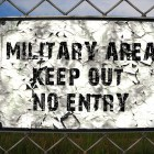 Military Area Keep Out