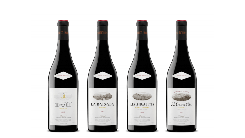 Álvaro Palacios' new bottle designs for its four top wines draw historical inspirations (pic: Álvaro Palacios)