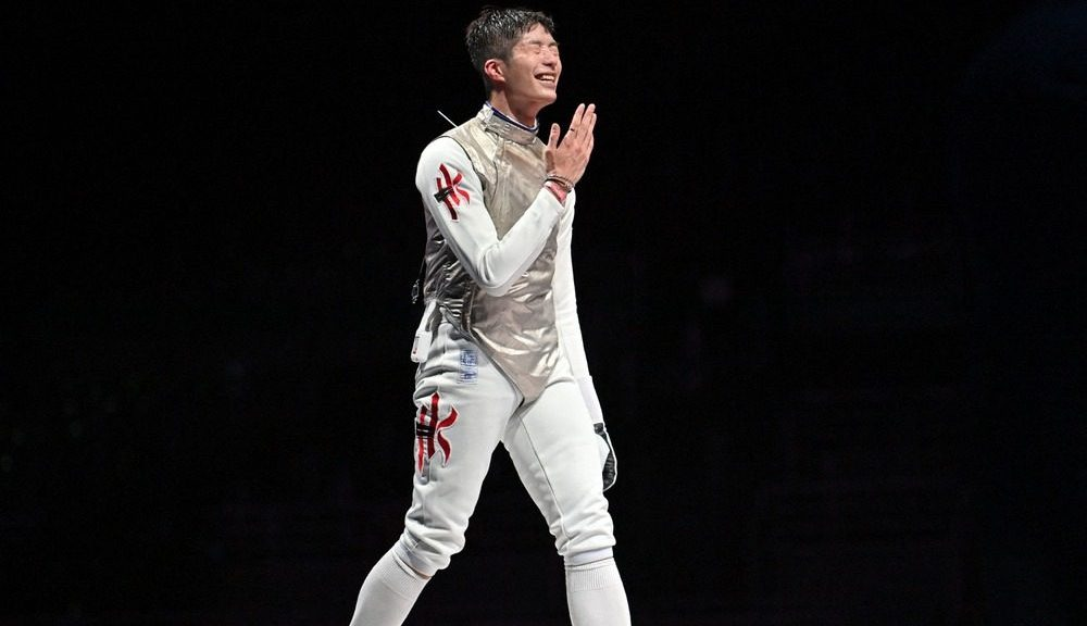 Edgar Cheung won historic fencing gold medal on Monday night at the Tokyo Olympics 2020 (AFP)