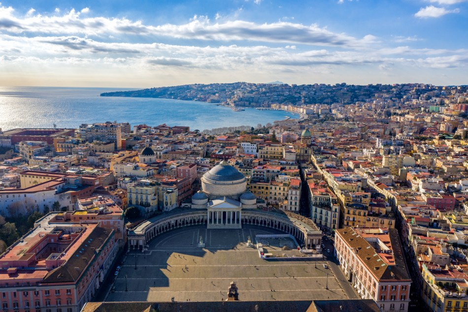 Aerial VIew of Naples from Piazza del Plebiscito on a beautiful sunny day (pic: iStock)