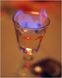 Как называется напиток который поджигают