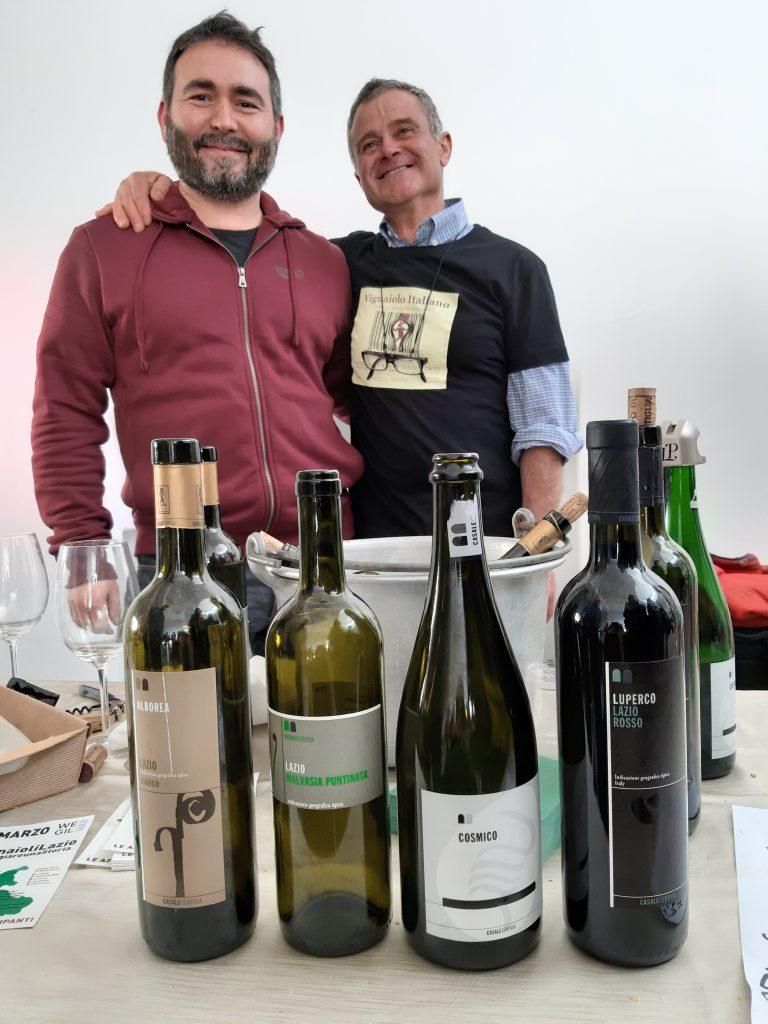 Antonio Cosmi ed un amico sommelie -Az Agricola Casale Certosa