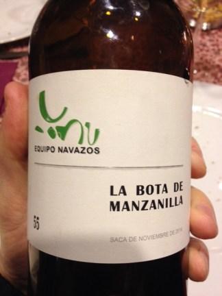 La Bota 55 de Manzanilla 55 - Equipo Navazos