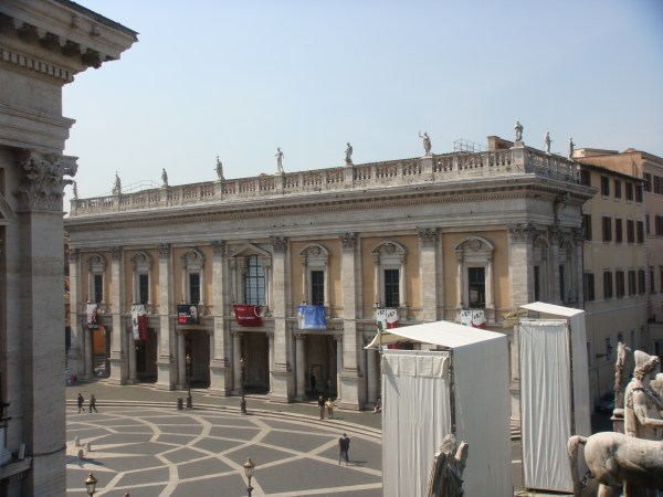 Michelangelo And Capitoline Museums In Rome Italy