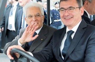 Vinitaly 2016 - Il Presidente della Repubblica Sergio Mattarella con il Presidente di Verona Fiere Maurizio Danese
