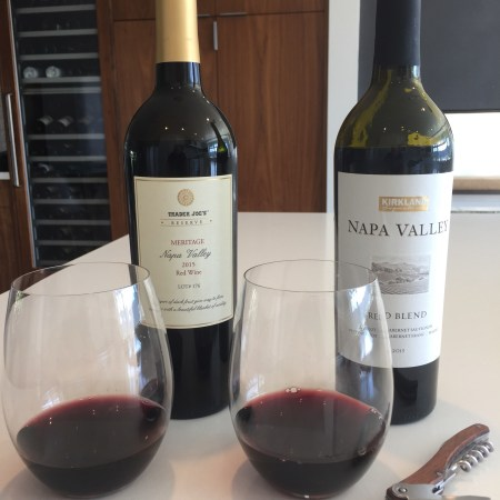 2015 Trader Joe's Reserve Meritage Lot 176, Napa Valley & 2015 Kirkland Signature Napa Valley Red Blend