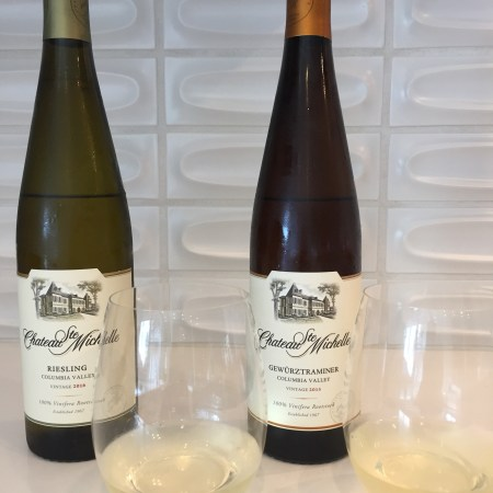 2016 Chateau Ste. Michelle Riesling, Columbia Valley, Washington & 2015 Chateau Ste. Michelle Gewurtztraminer, Columbia Valley, Washington
