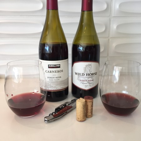 2016 Kirkland Signature Pinot Noir, Carneros,Napa Valley, California & 2015 Wild Horse Pinot Noir, Central Coast