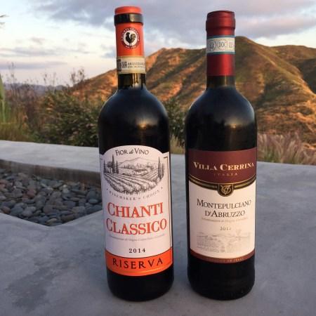 2014 Fior di Vino Chianti Classico Riserva, Italy & 2017 Villa Cerrina Montepulciano d'Abruzzo